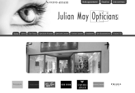 Julian May Opticians Website Design